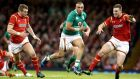 Ireland's Simon Zebo enjoyed his spell at outhalf against Wales. Photograph: Dan Sheridan/Inpho