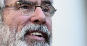 Speaking on The Irish Times Inside Politics podcast, Sinn Féin president Gerry  Adams accused the British and Irish governments of a lack of commitment to securing an agreement to re-establishing the Northern Executive. File photograph: Clodagh Kilcoyne/Reuters
