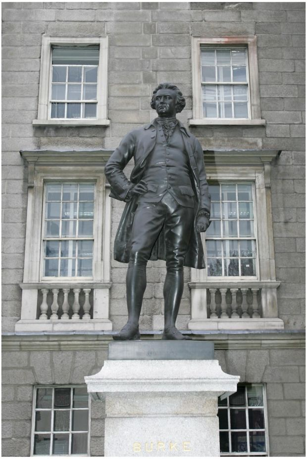Edmund Burke: the political philosopher is one of the founding fathers of modern conservatism. Photograph: Brenda Fitzsimons
