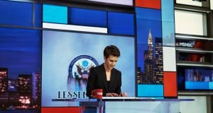 Before the broadcast Rachel Maddow announced she was poised to reveal previously unseen tax records from president Donald Trump on her show, a revelation that galvanized the MSNBC anchor's competitors and bolstered her ratings. Photograph: An Rong Xu/The New York Times