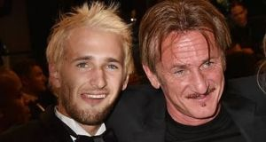 Hopper Penn (left), son of Hollywood star Sean Penn (right), has told how his father's ultimatum gave him the motivation he needed to kick  crystal meth. File photograph: Getty Images