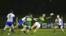 Kerry's Barry O'Sullivan wins possession in the EirGrid Munster  under-21 football  semi-final at Fraher Field in Dungarvan. Photograph:  Ken Sutton/Inpho