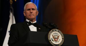 US vice-president Mike Pence at the Ireland Funds dinner in Washington on Wednesday. Photograph: Niall Carson/PA Wire