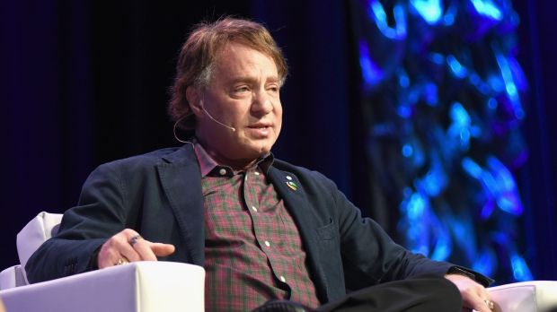 "Author Ray Kurzweil speaks onstage on ""Collaboration and the Future"" at the 2017 SXSW Conference and Festivals. Photograph: Katrina Barber/Getty Images"
