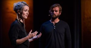 Sexual attack: the Icelandic author Thordis Elva and Tom Stranger, the Australian man who raped her, during a Ted Talk
