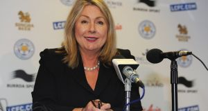 Irish woman Susan Whelan is chief executive  at Leicester City football club. Photograph: Michael Regan/Getty Images