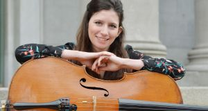 Katie Tertell, a cellist from Washington DC who plays with the RTÉ National Symphony Orchestra. Photograph: Alan Betson