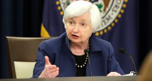 Federal Reserve chairwoman Janet Yellen: Reaction to  a 0.25 point interest rate  increase in the US  shows how a few sets of positive economic figures and some nudging from those in charge can change expectations – dramatically – in a matter of weeks. Photograph:  Yuri Gripas/Reuters