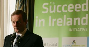 Taoiseach Enda Kenny at the launch of the 'Succeed in Ireland' initiative in 2012. Photograph: Alan Betson