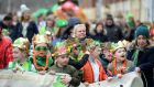 Taking part in Sheriff Street's St Patrick's Parade, Dublin: the community-based event now takes place every year on March 16th. Photograph: Dara Mac Dónaill
