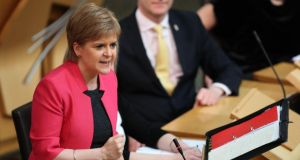 "Nicola Sturgeon: The Scottish first minister said her  government has a ""cast-iron democratic mandate to offer people a choice, and that mandate must be fulfilled"". Photograph: Jane Barlow/PA Wire"