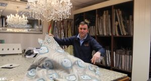 Robbie McAllister, owner of McAllister Interiors, at his showroom in Culloville, Co Armagh. Photograph: Simon Carswell