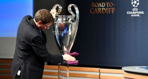 The Champions League quarter-final draw was made on Friday morning. Photograph: Getty Images