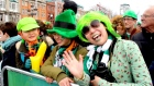 Tourists celebrate St Patrick's Day in Dublin