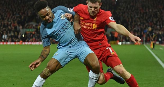 8bab95edf Manchester City striker Raheem Sterling in action against Liverpool s James  Milner last year. Sterling faces