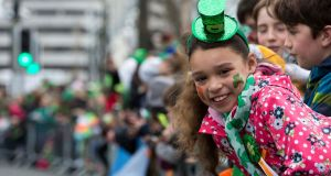 Nadia Guiney of Hollyhill at the  Cork St Patrick's Day Parade.  Photograph:  Clare Keogh
