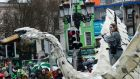 A float in the St Patrick's Day parade in Dublin. Photograph: Cyril Byrne/The Irish Times