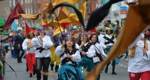 Performers in the St Patrick's Day parade in Dublin. Photograph: Alan Betson/The Irish Times