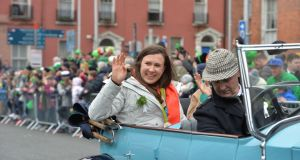 St Patrick's Day parade grand marshal Annalise Murphy  in Dublin. Photograph: Alan Betson/The Irish Times