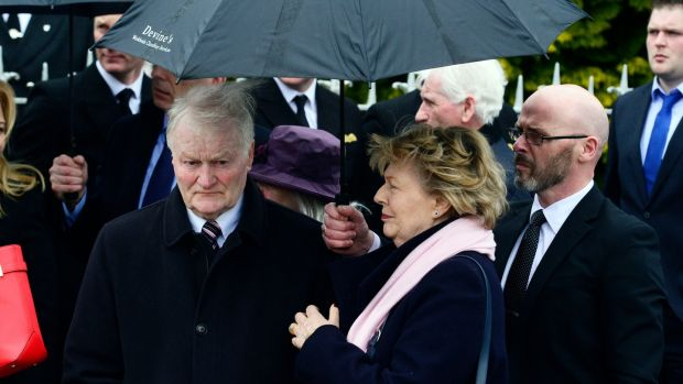 John and Mary Fitzpatrick, parents of Capt Dara Fitzpatrick. Photograph: Cyril Byrne/The Irish Times