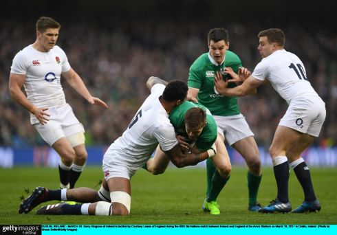 13 Garry Ringrose He straightens so intelligently and gets over the gainline when the odds appear against him. He put Keith Earls away with a beautifully timed pass and his defensive reads were excellent. Rating: 8 (Photograph: Shaun Botterill/Getty Images)