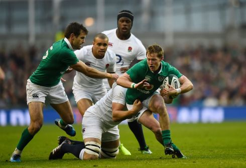 9 Kieran Marmion Being pernickety a number of box-kicks drifted a little far but he ensured that Ireland played with tempo given his speed to the rucks. Given the context of the game this was a super effort. Rating: 7 (Photograph: Clodagh Kilcoyne/Reuters)