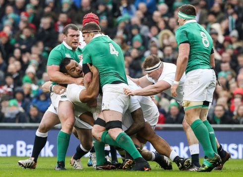 1 Jack McGrath Ireland needed individuals to set the tone early on and he did exactly that with thumping tackles on Courtney Lawes and Billy Vunipola and some muscular carrying; one penalty aside it was a brilliant 60 minutes. Rating: 8  (Photograph: Billy Stickland/Inpho)