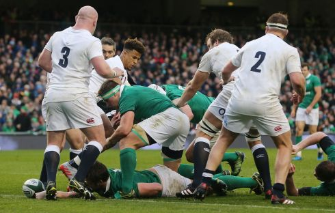 5 Iain Henderson He's just such a smart footballer, spotting opportunities as he did for the try and that complements every else both with and without the ball. Nicked an English lineout too and tackled everything that moved in a white shirt. Rating: 8  (Photograph: PA Wire)