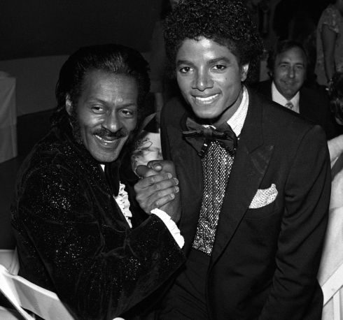 With Michael Jackson at a Grammy Awards reception in Los Angeles in 1978. Photograph: Brad Elterman/FilmMagic