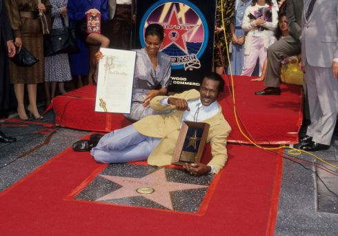 Chuck Berry and daughter Ingrid Berry Clay after the guitarist was given a star on  the Hollywood Walk of Fame, on October 8th, 1987. Photograph:  Ron Galella, Ltd./WireImage