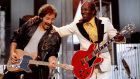 Bruce Springsteen, performing with Chuck Berry in 1995  spoke of Berry's unparalleled abilities as a songwriter. Photograph: Reuters