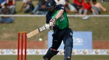 Paul Stirling's 99 helped Ireland to a six wicket victory in the third ODI against Afghanistan. Photograph: Altaf Quadri/AP