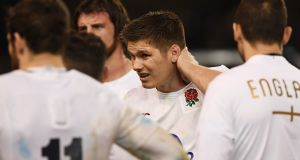 Eddie Jones expects 15 of his England squad to make this summer's Lion tour - with owen Farrell among the front runners. Photograph: Shaun Botterill/Getty