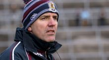Galway manager Kevin Walsh will be pleased with his team's win over Derry on Sunday. Photograph: Mike Shaughnessy/Inpho
