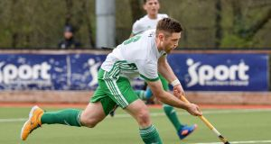 Shane O'Donoghue scored goals against both Wales and France over the weekend in the World League. Photograph: Rowland White/Inpho.