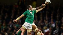 Asking the right questions: Peter O'Mahony competing in the lineout. Photograph:  Clodagh Kilcoyne/Reuters
