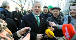 Enda Kenny enjoys St Patrick's Day in New York. Photograph: PA