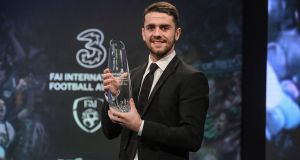 Robbie Brady was named Ireland's senior international player of the year. Photograph: Brendan Moran/Sportsfile