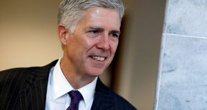 President Donald Trump's supreme court nominee Neil Gorsuch: if approved by the Senate, as expected, he would restore a narrow 5-4 conservative majority on the court. Photograph: Aaron P Bernstein/Reuters