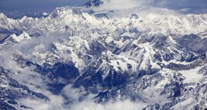 An aerial view of Mount Everest. Photograph: Adeel Halim/Bloomberg News