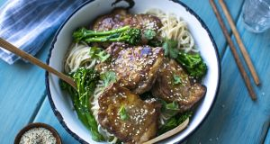 Donal Skehan's soy and ginger chicken thighs