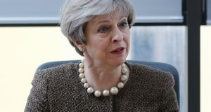 British prime minister Theresa May:  will make statement to House of Commons on March 29th, the same day article 50 will be triggered. Photograph: Dimitris Legakis/EPA