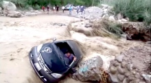 Dramatic escape caught on camera as torrential flooding grips Peru