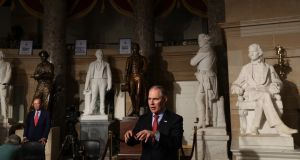 Scott Pruitt, head of the US Environmental Protection Agency: remains unconvinced that carbon dioxide is a significant driver of global warming. Photograph: Stephen Crowley/New York Times