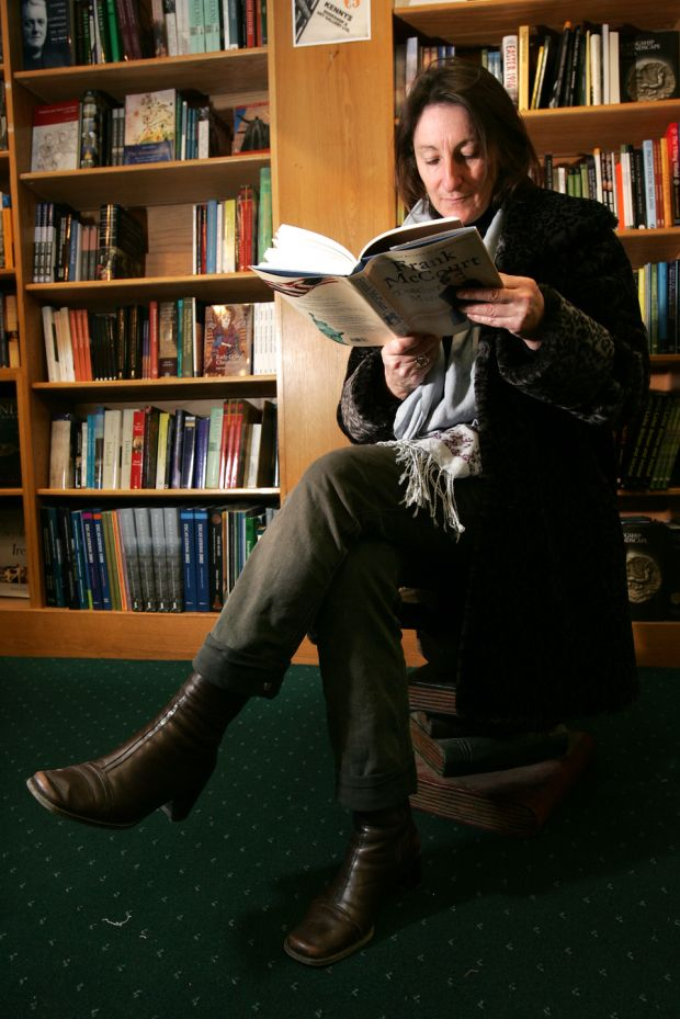 Mary O'Malley, poet, in Kenny's Bookshop, Galway city. Photograph: Frank Miller