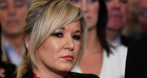 "Michelle O'Neill: The Sinn Féin leader said  implementing previous agreements remains the ""biggest stumbling block to progress"" in forming a new government. Photograph: Clodagh Kilcoyne/Reuters"