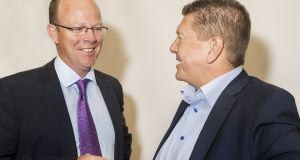 "Oneview chief executive  James Fitter and  founder Mark McCloskey: ""Innovative healthcare leaders like LG Health select Oneview for its inherent ability to improve the patient experience."" Photograph: Peter Moloney"