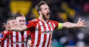 Derry City captain Ryan McBride: 27-year-old was found dead in his family home by his father on Sunday. Photograph:  Tom Beary/Inpho