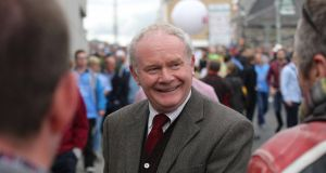 In Derry's Bogside area this morning, there was one name on everybody's lips and one man in everybody's thoughts - Martin McGuinness. File photograph:  Stephen Collins/Collins.