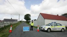 A security alert in 2009 in south Armagh on the Border near the village of Forkhill. The  Border meanders for 499km